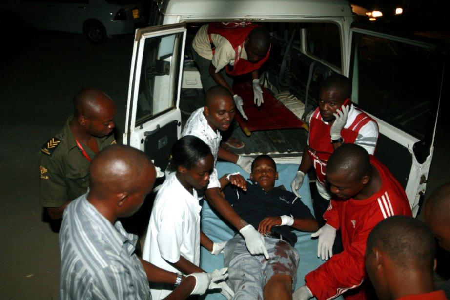 Une victime de la dernière attaque à Mombasa,... (Photo: Reuters)
