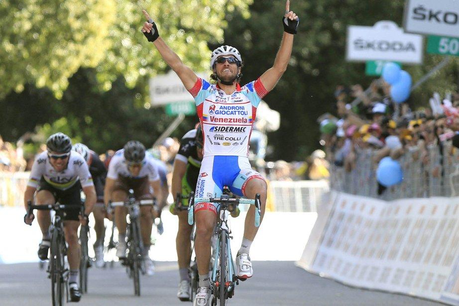 L'Italien Roberto Ferrari s'est imposé au sprint.... (Photo: Reuters)