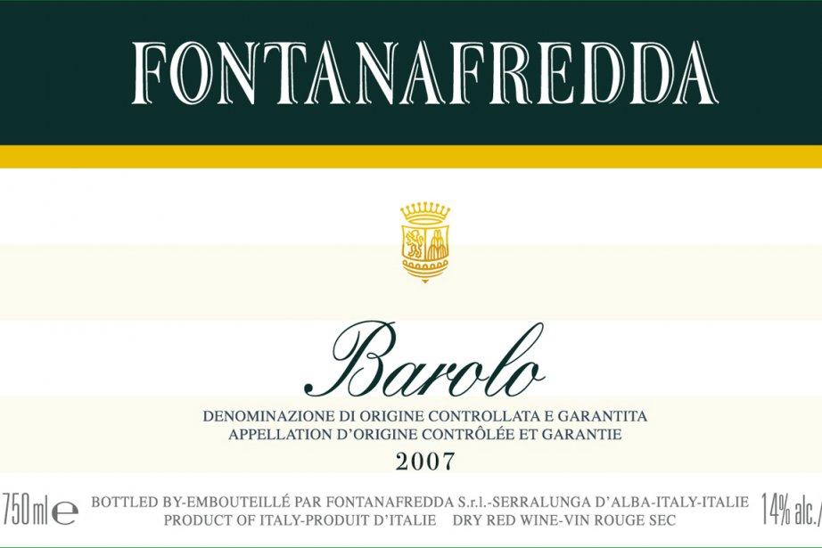 Barolo 2007 Fontanafredda... (Photo fournie)