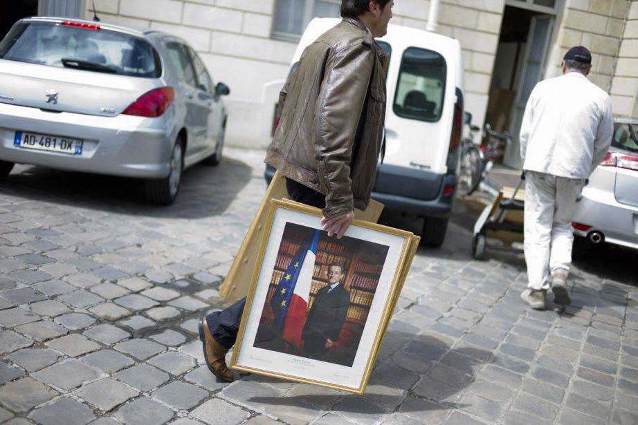 C'est la relève de la garde à l'Élysée,... (Photo: Thibault Camus, AP)
