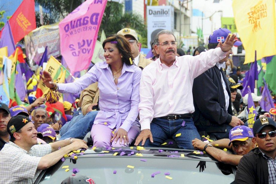 L'économiste Danilo Medina (60 ans) brigue la présidence... (Photo: Johnny Rotestan, Reuters)