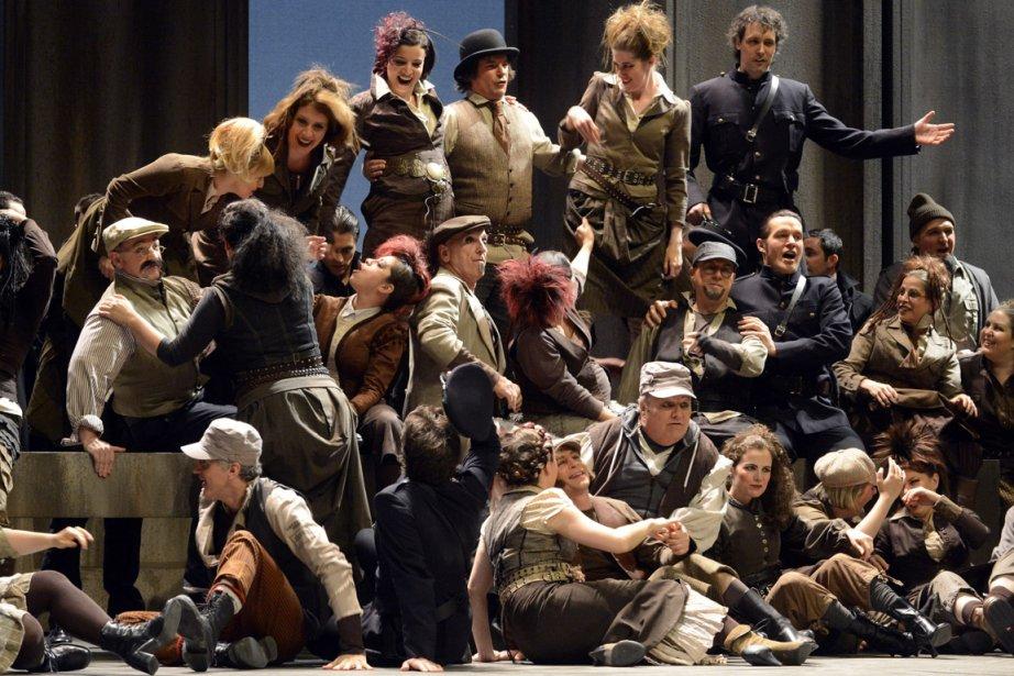 La troupe de Faust en répétition.... (Photo: Bernard Brault, La Presse)
