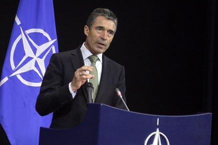 Le secrétaire général de l'Otan, Anders Fogh Rasmussen,... (Photo: Reuters)