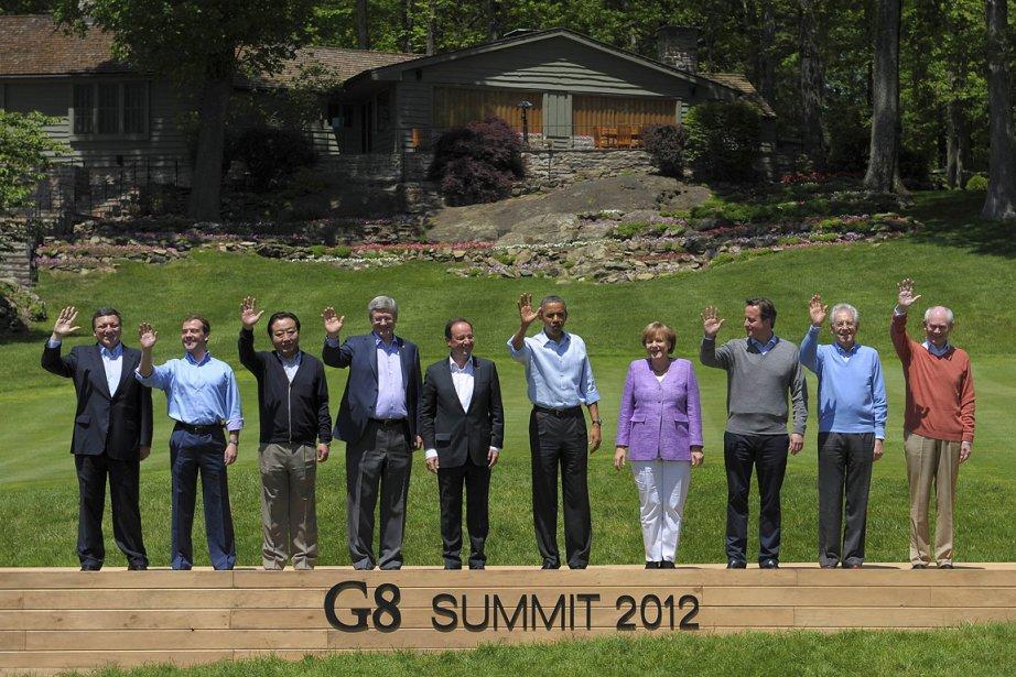 Les dirigeants des huit pays les plus industrialisés... (Photo: AFP)