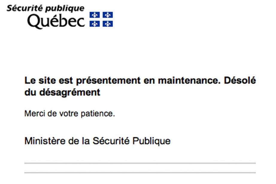 Sur la page web du ministère de la... (Image tirée du web)