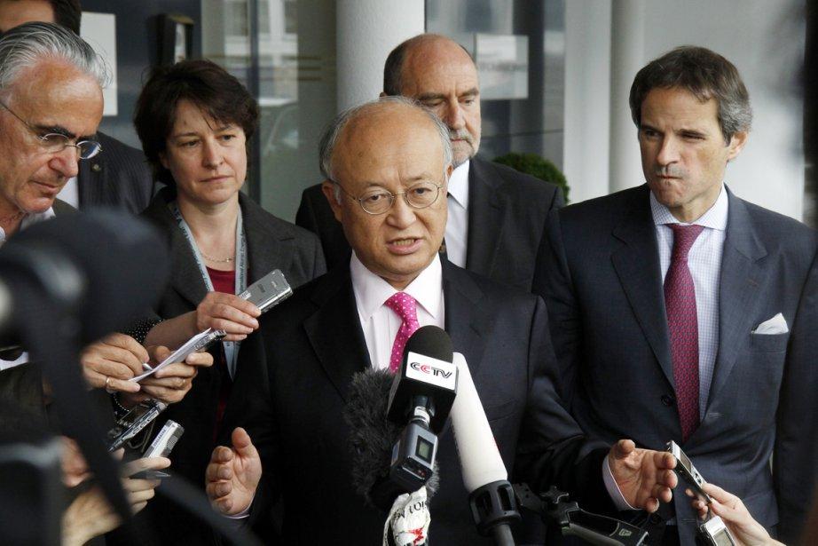 Le directeur général de l'AIEA Yukiya Amano a... (Photo: Ronald Zak, AP)