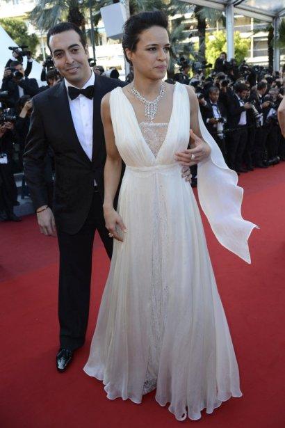 Le producteur Mohammed Al Turki en compagnie de Michelle Rodriguez | 22 mai 2012