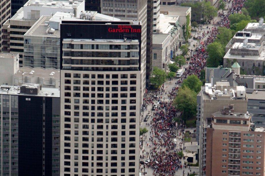 En ce 100e jour de grève étudiante, des... (Photo Marco Campanozzi, La Presse)