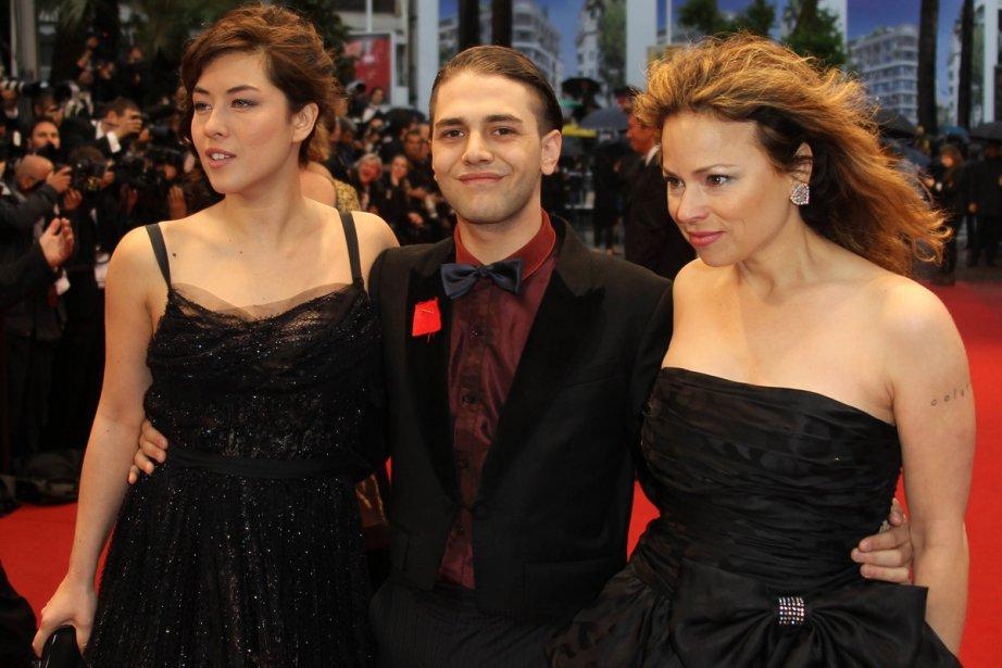Le réalisateur Xavier Dolan (en compagnie des actrices... (Photo: AFP)