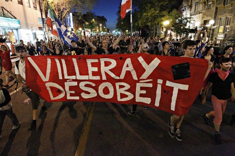 Des manifestants à Villeray à la 31e manifestation nocturne | 24 mai 2012