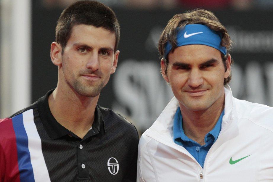 Novak Djokovic et Roger Federer s'apprêtent tous ... (Photo: AP)