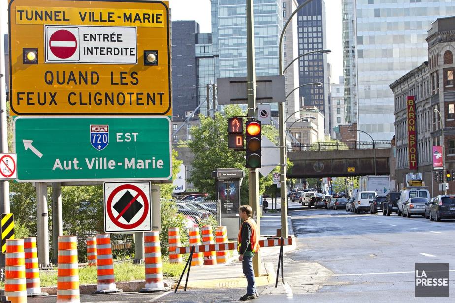 Le tunnel Ville-Marie.... (PHOTO PATRICK SANFAÇON, ARCHIVES LA PRESSE)