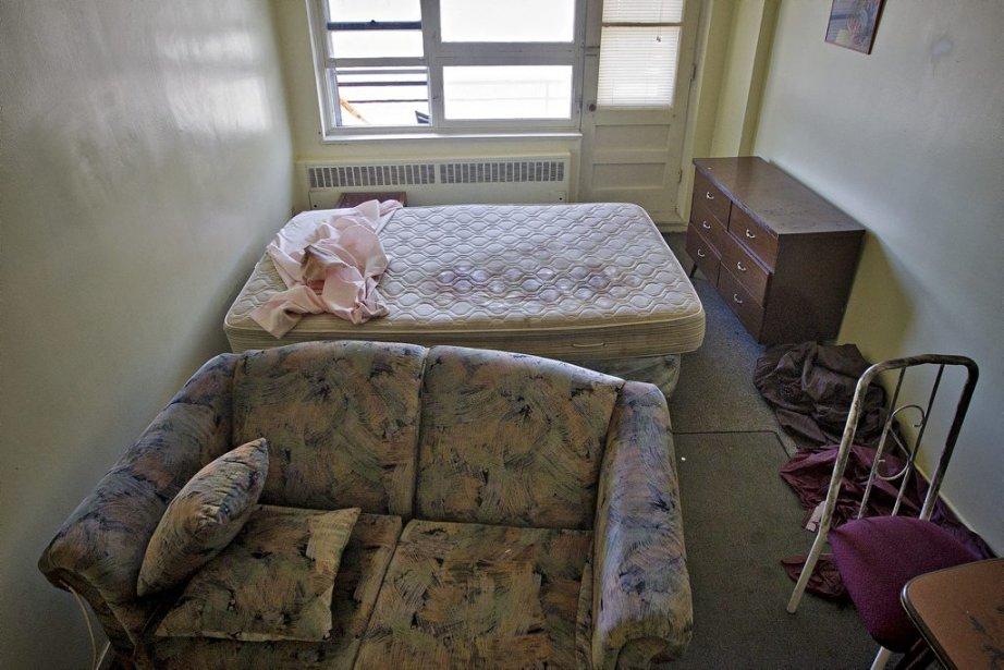 L'appartement de Rocco Luka Magnotta aussi connu comme Eric Clinton Newman ou Vladimir Romanov. Un meurtre crapuleux y a été perpétré. (Patrick Sanfaçon, La Presse)