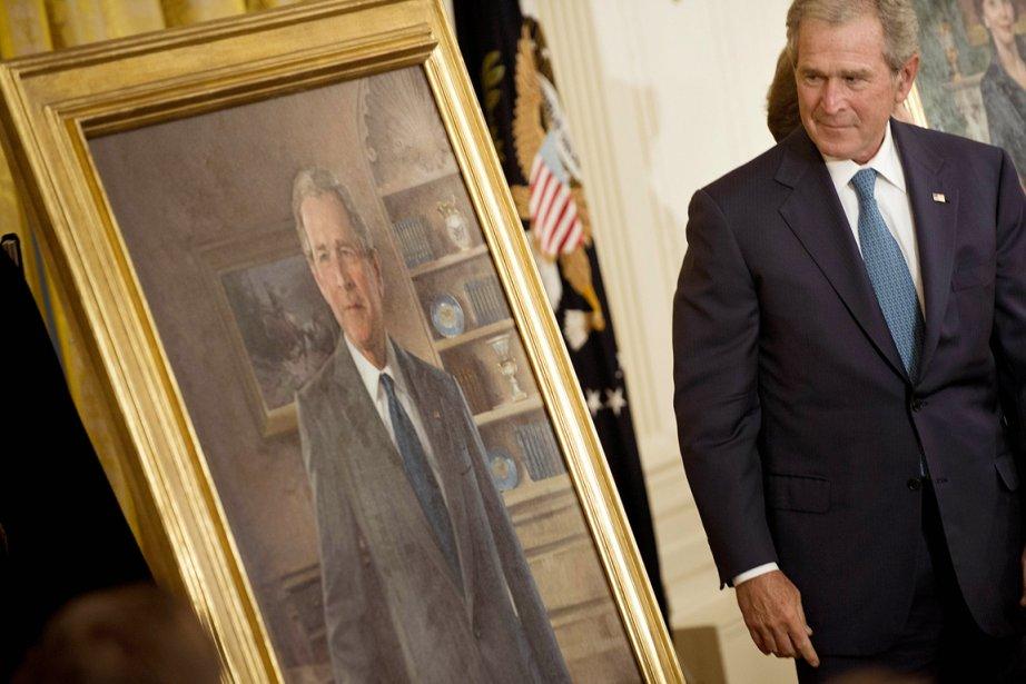 Le portrait de George W. Bush va être... (Photo: Brendan Smialowski, AFP)