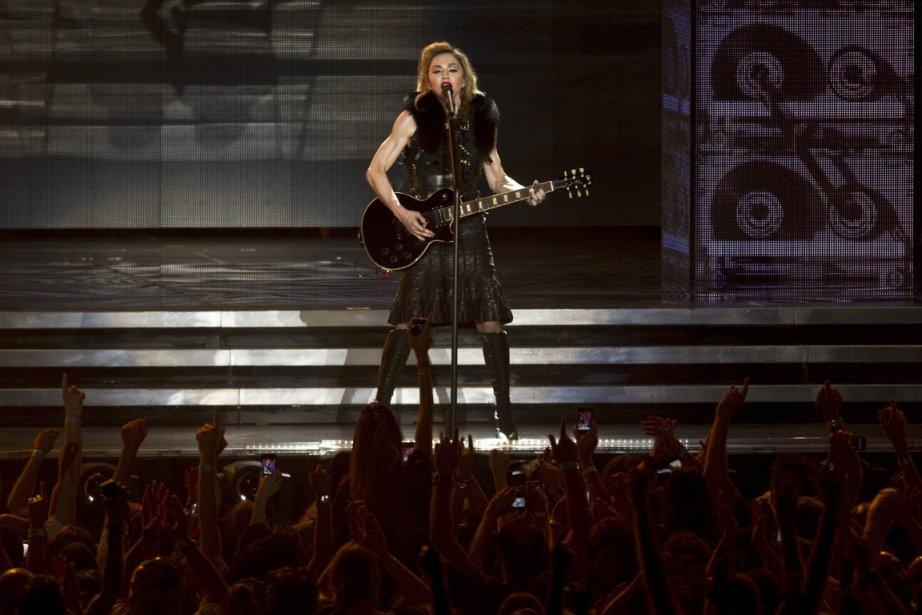 Madonna, ici en spectacle en Israël, en 2012.... (AFP PHOTO / JACK GUEZ)