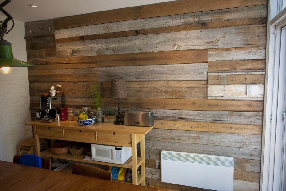 un mur chaleureux carole thibaudeau r novation verte. Black Bedroom Furniture Sets. Home Design Ideas