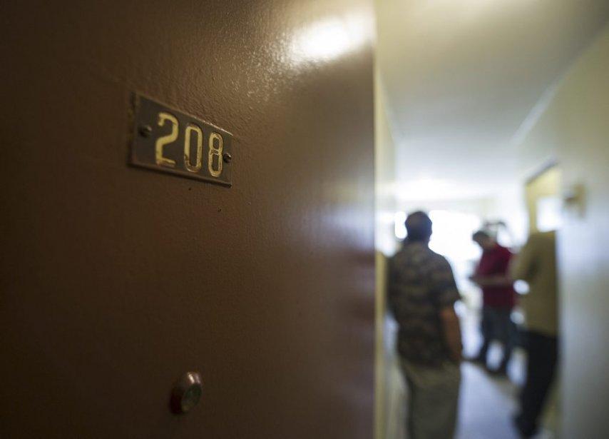 L'entrée de son appartement dans Côte-des-Neiges. (AFP)