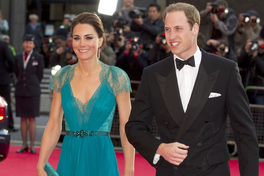 Catherine Middleton et le prince Williams.... (Photo AFP)