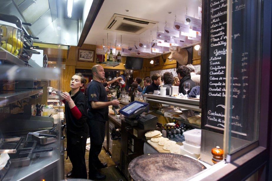 Visite du restaurant l'Avant-Comptoir dans le 6e arrondissement. (Photo François Roy, La Presse)