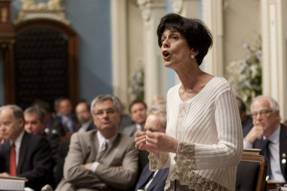 La ministre de l'ÉducationMichelle Courchesne... (Photo: La Presse Canadienne)