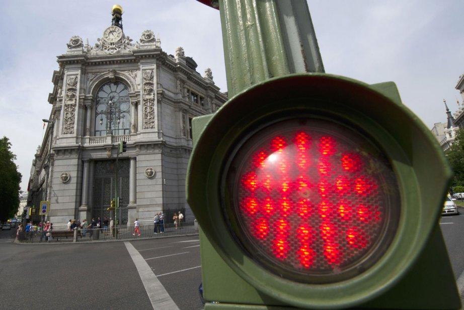 Banco de Espana à Madrid.... (Photo AFP)