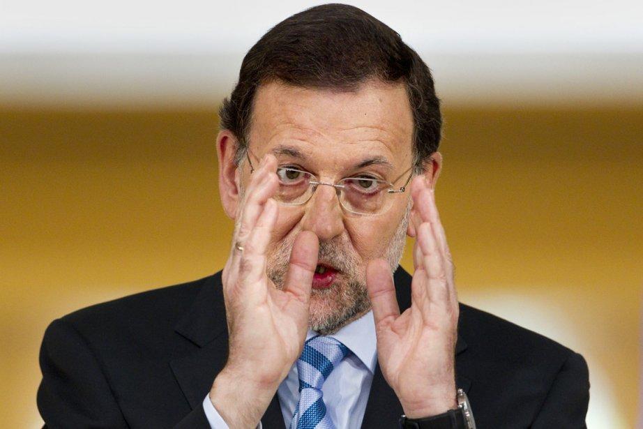 Le chef du gouvernement espagnol, Mariano Rajoy, a... (Photo : Daniel Ochoa de Olza, AP)