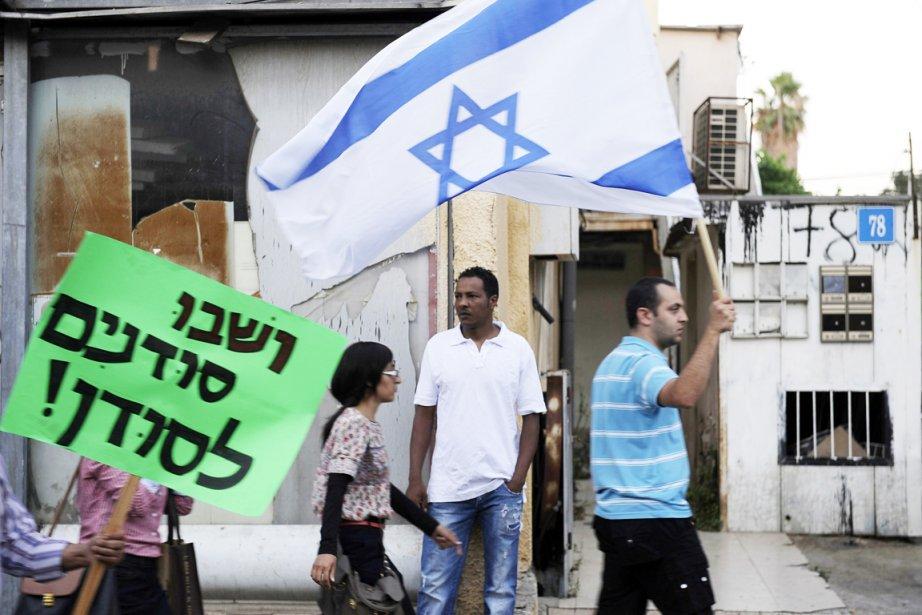 Manifestation anti-noir Tel Aviv