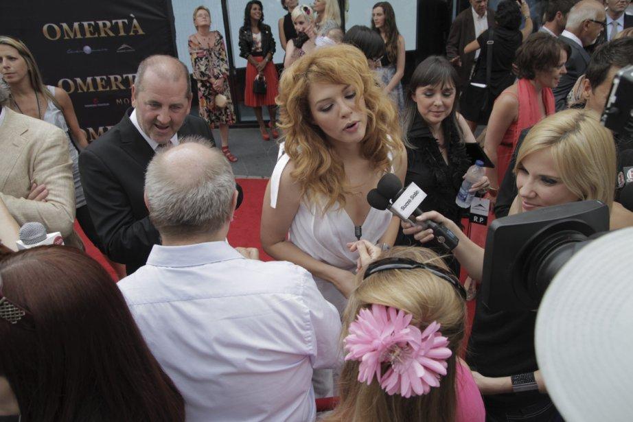 Rachelle Lefevre lors de la première du film Omertà, de Luc Dionne. | 18 juin 2012