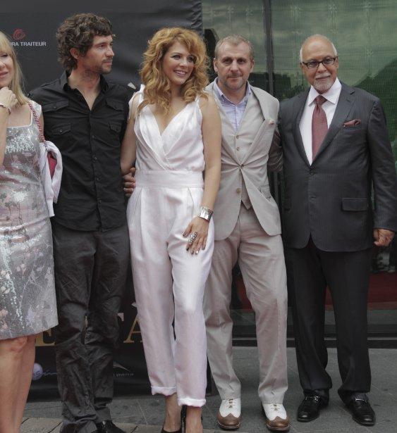 Maxime Denommée, Rachelle Lefevre, Patrick Huard et René Angélil. | 18 juin 2012