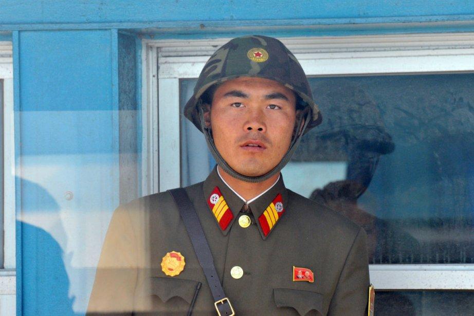 Un soldat nord-coréen près de la frontière avec... (Photo: AFP)