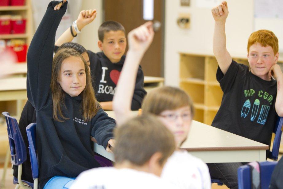 Ambiance dans une classe de 5e année de... (Photo Alain Roberge, La Presse)
