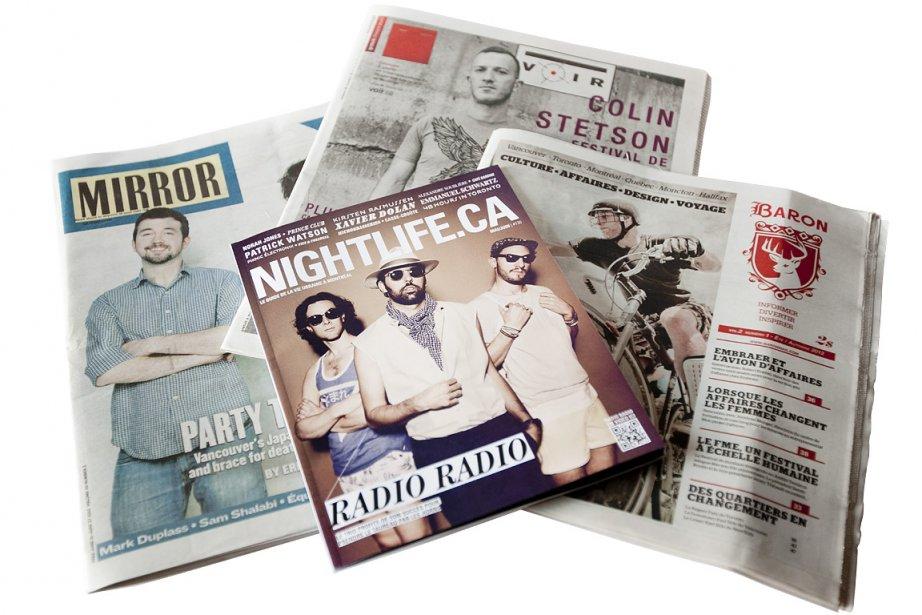 La dernière édition du journal Montreal Mirror.... (Photo: Marco Campanozzi, La Presse)
