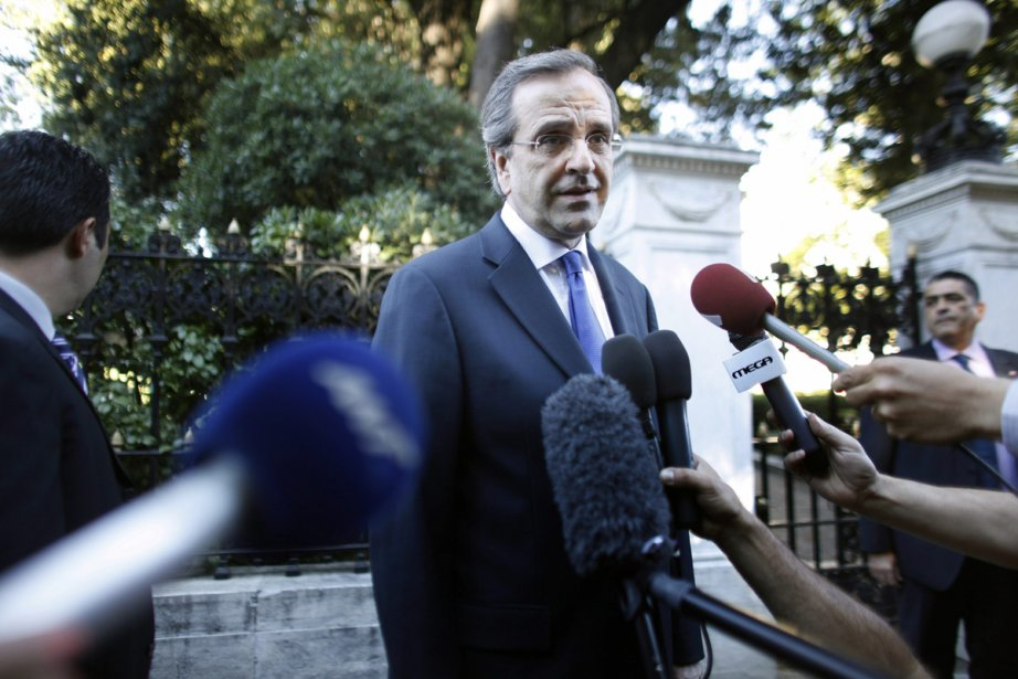 Le nouveau premier ministre grec, Antonis Samaras.... (Photo: Kostas Tsironis, Associated Press)