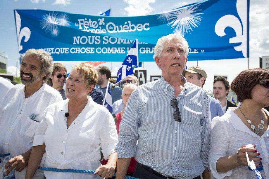 Les politiciens Daniel Paillé, Pauline Marois et Gilles Duceppe | 24 juin 2012