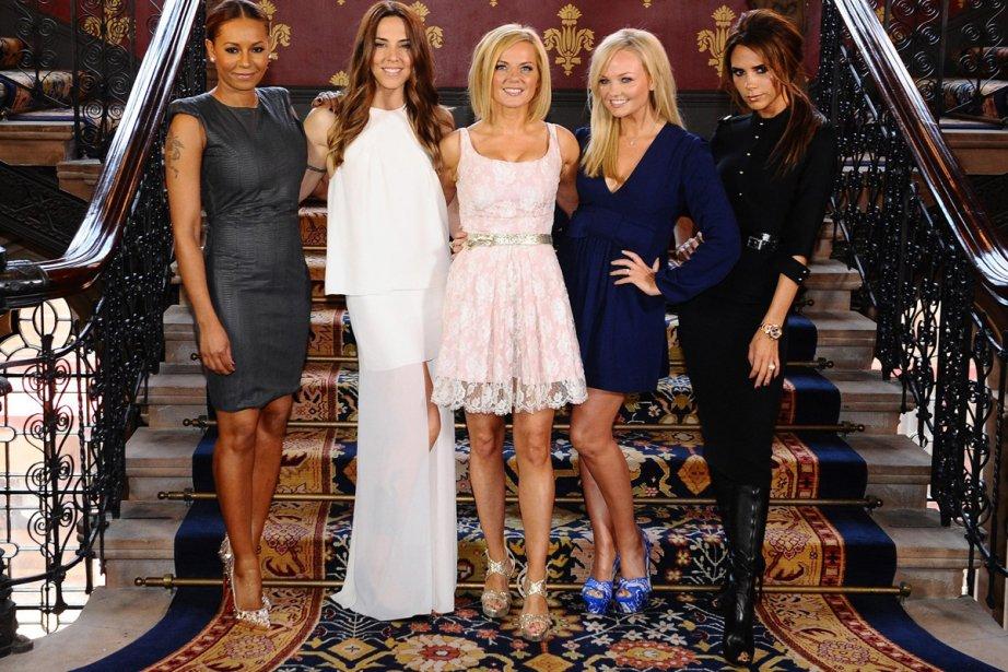 Melanie Brown, Melanie Chisholm, Geri Halliwell, Emma Bunton... (Photo: AP)