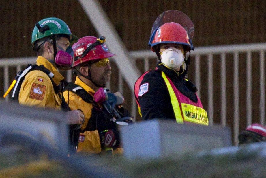 Les secouristes à l'oeuvre.... (Photo PC)