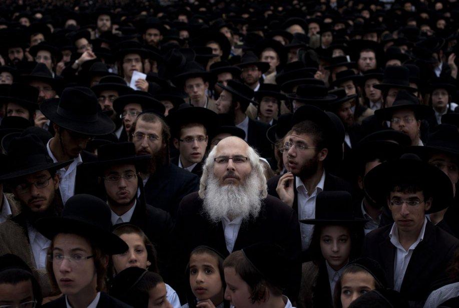 Assemblée de prière pour des juifs ultras orthodoxes à Jérusalem | 29 juin 2012