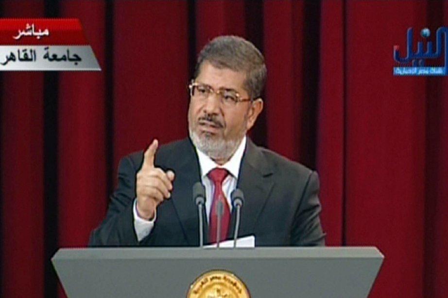 Mohamed Morsi dit vouloir former un gouvernement d'ouverture.... (Photo : AFP)