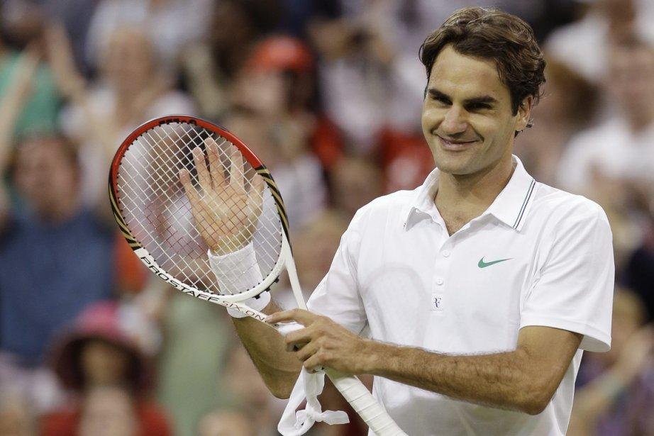Roger Federer a tiré de l'arrière deux sets... (Photo : Alastair Grant, AP)
