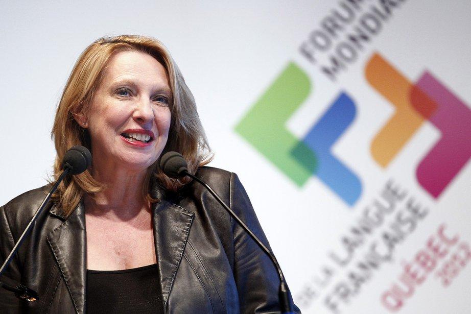 La ministre de la Culture, Christine St-Pierre, lors... (Photo: archives Le Soleil)