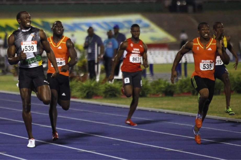 Yohan Blake (535) a vaincu Usain Bolt (539)... (Photo: Gilbert Bellamy, Reuters)