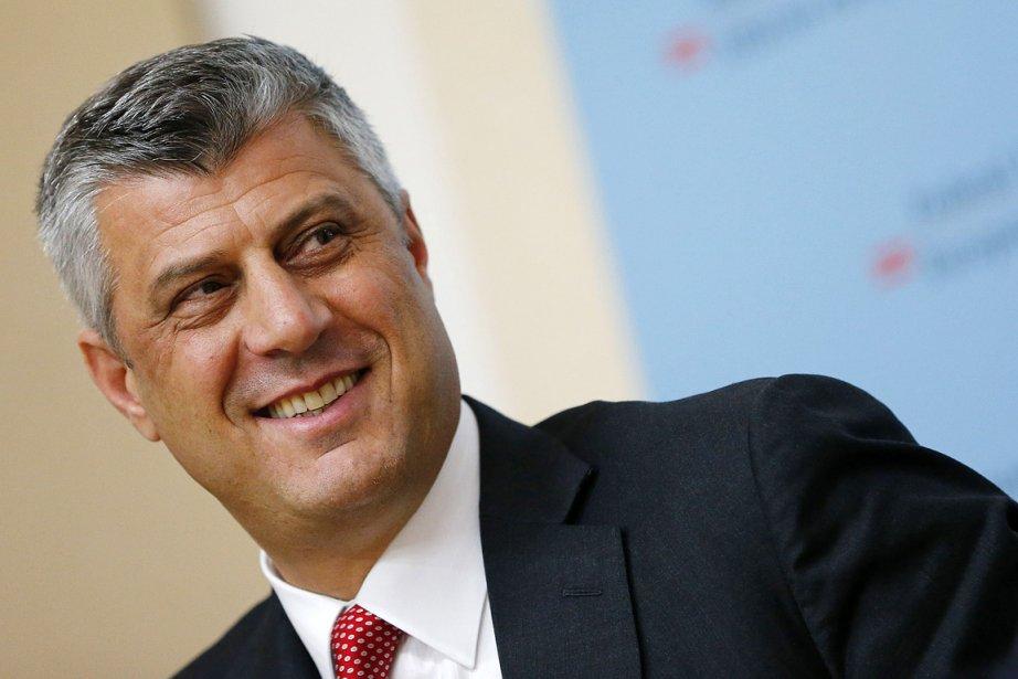 Le premier ministre kosovar, Hashim Thaçi, qui assistait... (Photo: AFP)