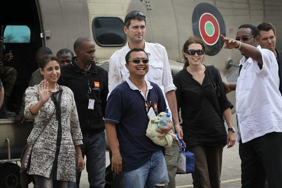 Les quatre humanitaires avaient été enlevés vendredi dans... (Photo: AP)