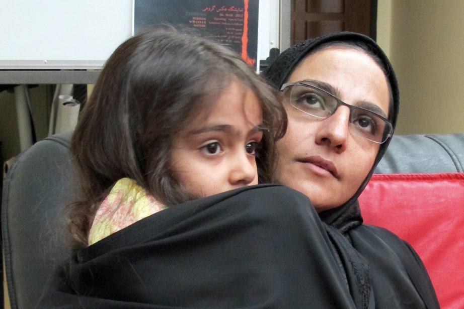 Veuve d'un scientifique iranien assassiné sous ses yeux,... (PHOTO: LAURA-JULIE PERREAULT, LA PRESS)