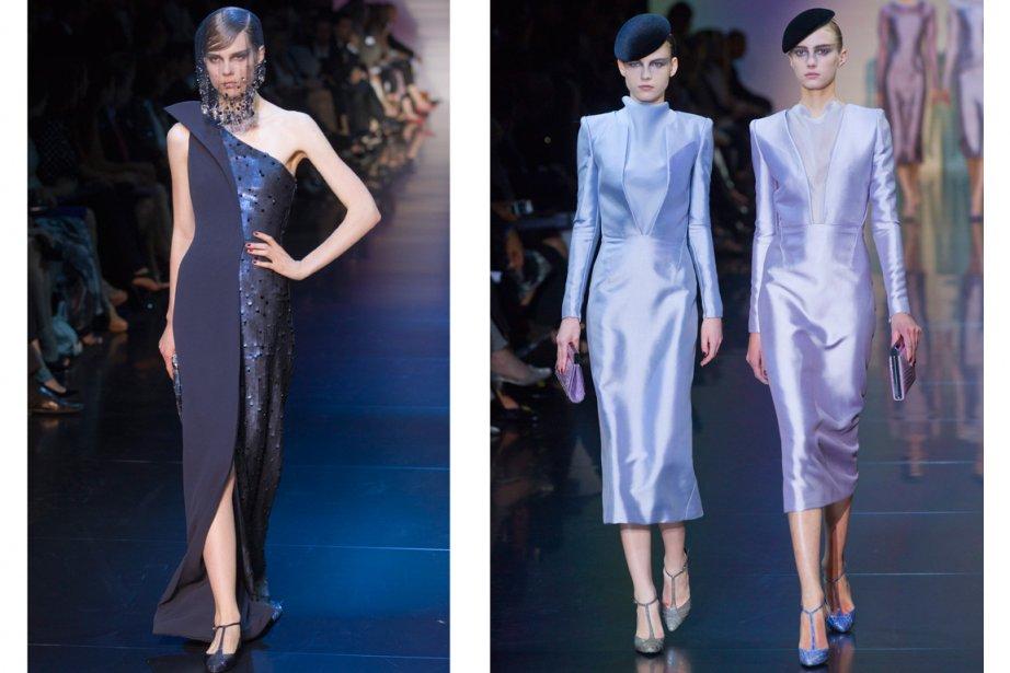 Des modèles lors du défilé de la collection... (Photos Jacques Brinon, AP)