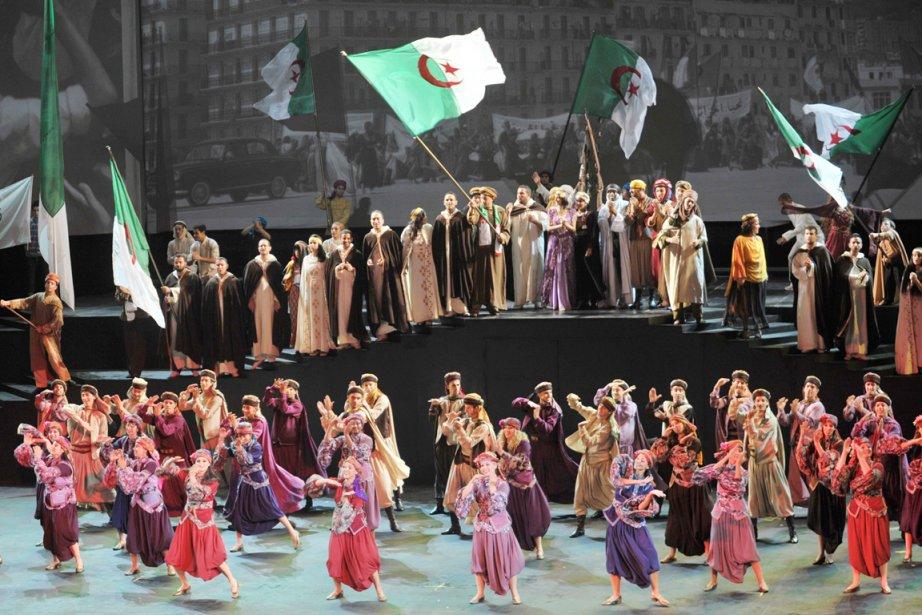 La comédie musicale intituléeLes bâtisseurs de la gloire,... (Photo: Anis Belghoul, AP)