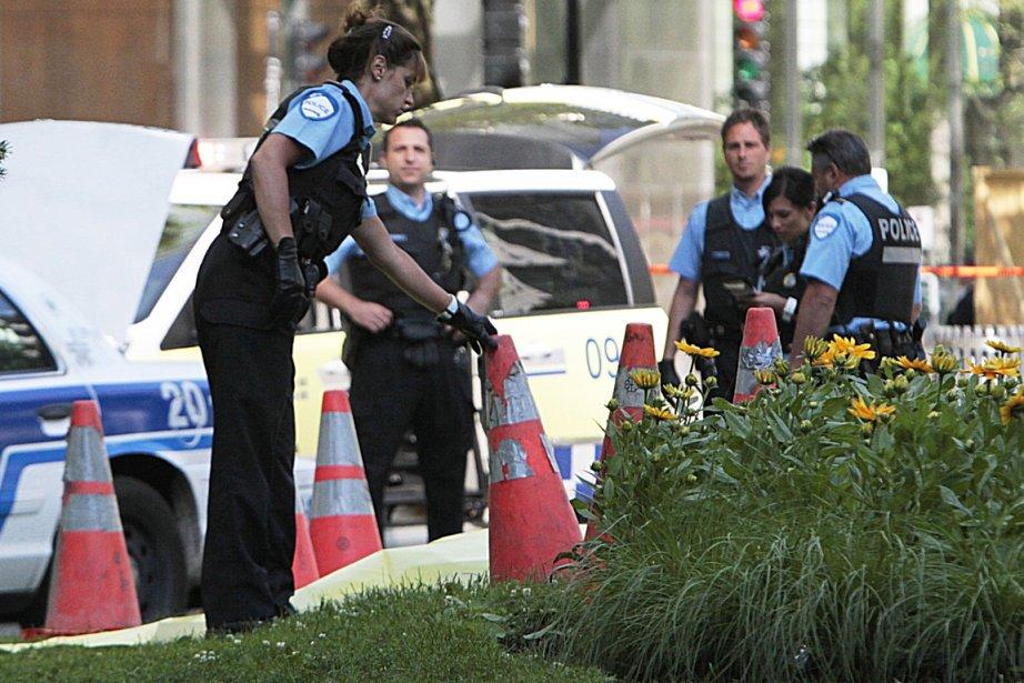 Le cadavre d'un homme a été découvert ce... (Photo Patrick Sanfaçon, La Presse)