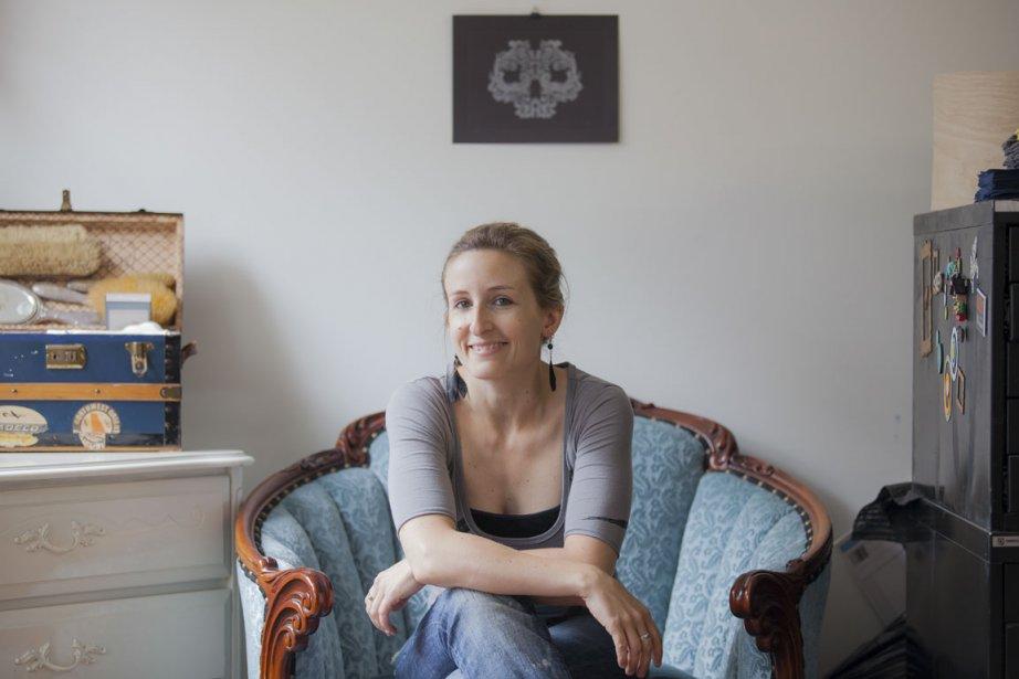 Iris Sautier est passionnée de sérigraphie depuis les... (Photo: Édouard Plante-Fréchette, La Presse)