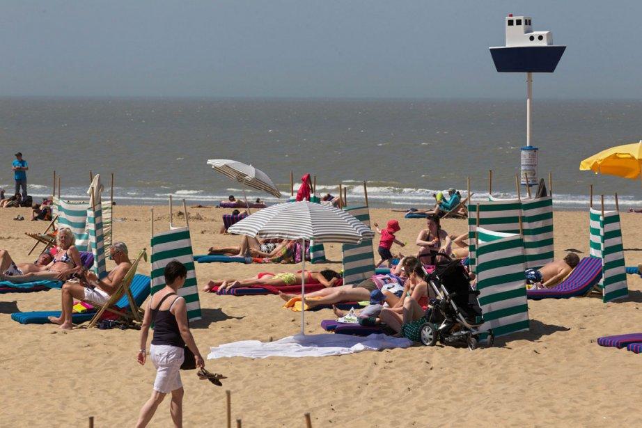 La plage d'Ostende, en Belgique... (Photo AFP)