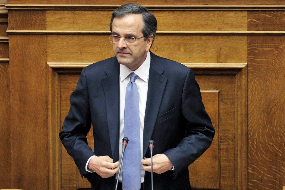 Le premier ministre grec Antonis Samaras.... (Photo: Louisa Gouliamaki, AFP)